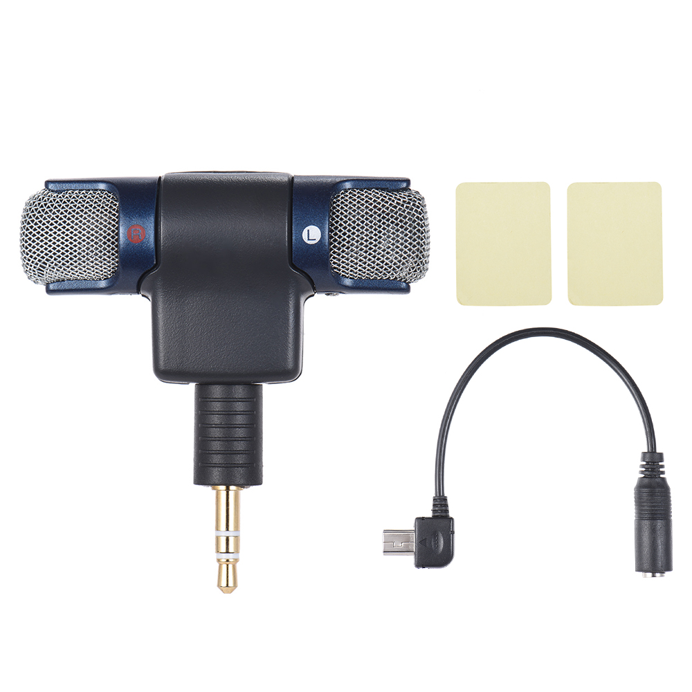 external stereo mic microphone with to mini usb micro adapter cable for gopro hero 3 3 4. Black Bedroom Furniture Sets. Home Design Ideas