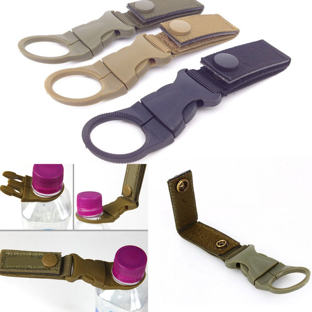 Outdoor Tactical Nylon Webbing Buckle Hook Water Bottle Holder Clip Belt Hanger