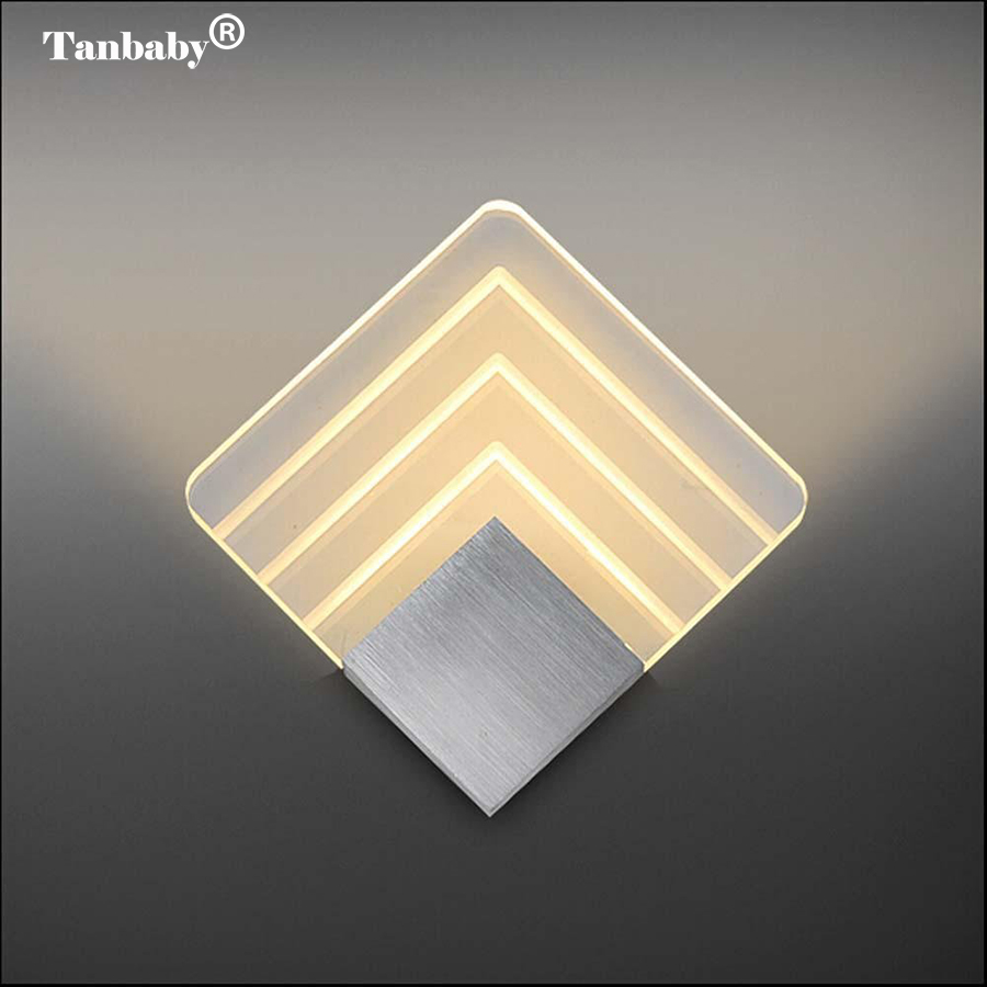 Tanbaby Modern Wall Light Acrylic Sconce Lamp 5W Warm White Wall Mounted decoration Lighting Fixture for Home Hotel BedroomTanbaby Modern Wall Light Acrylic Sconce Lamp 5W Warm White Wall Mounted decoration Lighting Fixture for Home Hotel Bedroom