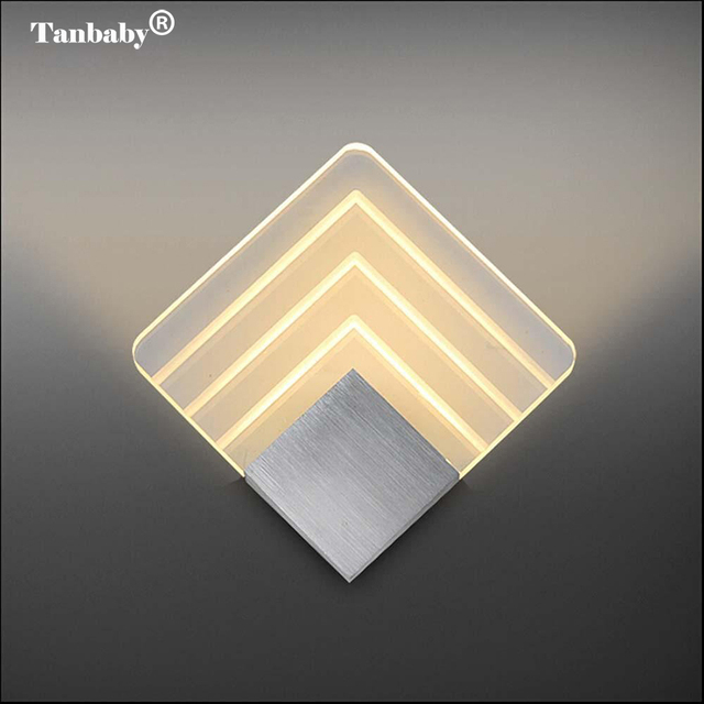 Tanbaby Modern Wall Light Acrylic Sconce Lamp 5w Warm White Mounted Decoration Lighting Fixture For