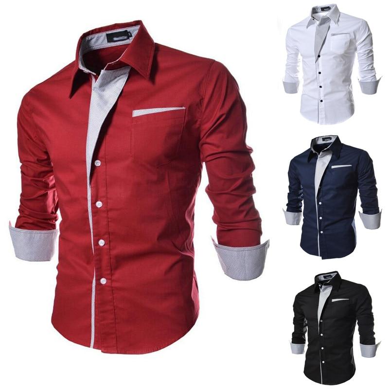 4327bb3d2f 2015 ropa de Hombre de Moda Camisa Sociales Informal de Manga Larga Camisa  de Vestir hombres Slim Fit Camisa chemise homme Masculina Más El tamaño M  3XL 809 ...