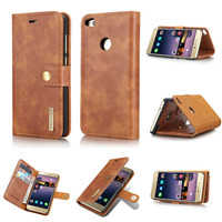 Brand Luxury Genuine Leather Phone Cover For Huawei P8 Lite 2017 Honor 8 Lite P9 Lite