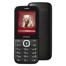 Оригинальный ipro большая клавиатура 2.4 дюймов двойной слот для карт gsm разблокирована мобильного телефона с английским Русский Испанский сотовый телефон Celular