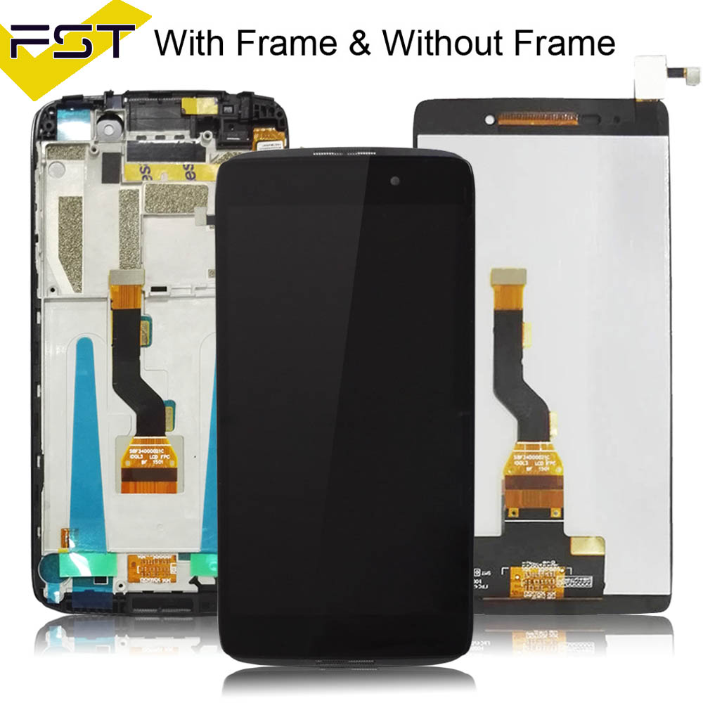4.7''For Alcatel One Touch Idol 3 OT6039 6039 6039A 6039K 6039Y LCD Display Touch Screen Digitizer Assembly With Frame