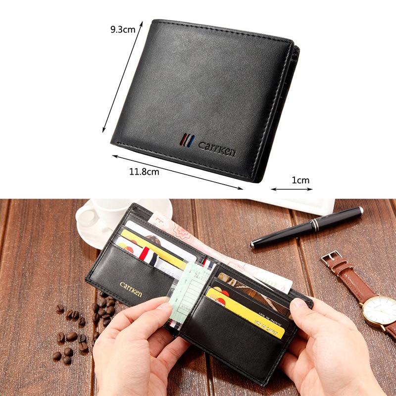 Short Wallet Purse Organizer Card-Holder Folding Multi-Card Credit Men 668 WF New Ultra-Thin