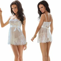 S-3XL 4XL 5XL 6XL Plus Size Lingerie White Lace Sexy Lingerie Hot Erotic Lingerie Sexy Night Dress Women Underwear Nightgown