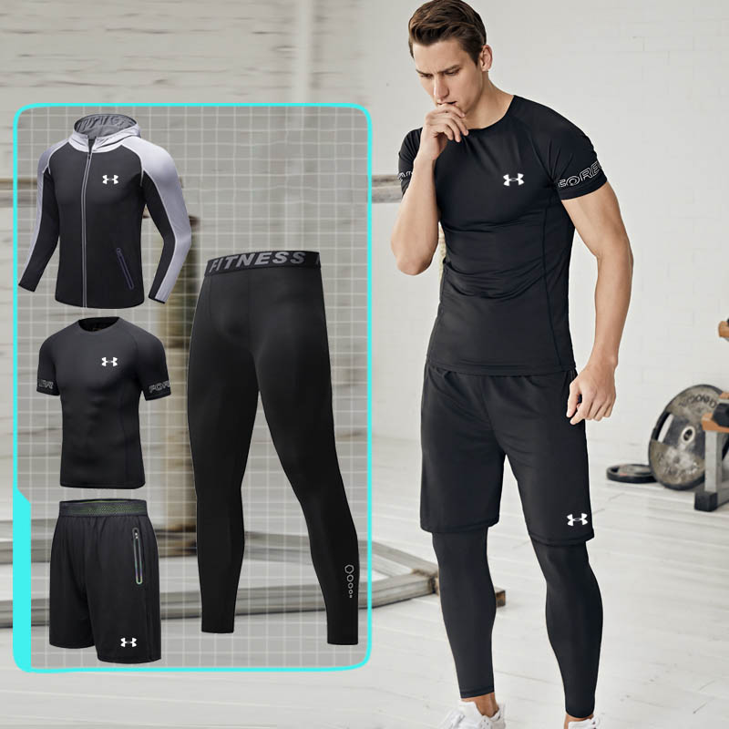 Sous armure hommes sport costume formation veste ropa deportiva hombre gym legging course costume hommes sportswear chine taille M-4XLSous armure hommes sport costume formation veste ropa deportiva hombre gym legging course costume hommes sportswear chine taille M-4XL
