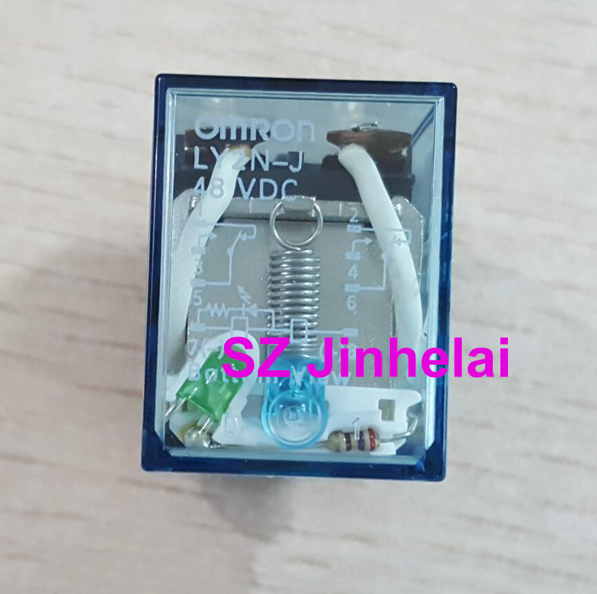OMRON LY2N J 48VDC Authentic original 8Pin Relay LY2NJ DC48V  10A-in Relays from Home Improvement    1