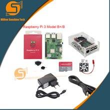 Lastest! Raspberry pi 3B +/3B + 16GB/32GB + kühlkörper + lüfter + Fall + 5V 2,5 A power + HDMI kabel für Raspberry pi 3B/3B + kostenloser versand