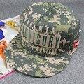 5 pçs/lote nova camuflagem cor grande consultivo logotipo Hiphop boné de beisebol viseira plana chapéu de aba Snapback moda ajustável