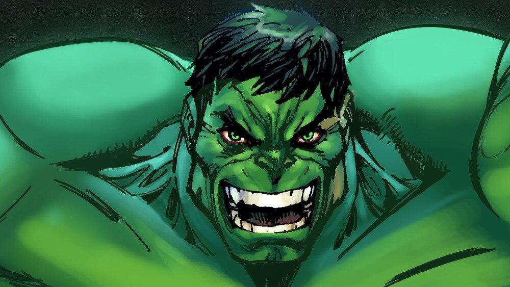 Comic Marvel Hulk Clic Vintage Wallpaper Poster Art Decal Room