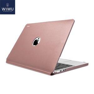 Image 5 - WIWU Laptop Sleeve für MacBook Pro 13 A2159 2019 Wasserdichte PU Leder Hardshell Fall für MacBook Pro 13 Zoll A1706 a1708