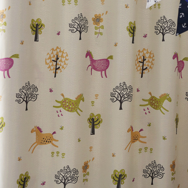 Cartoon Children Bedroom Curtains for Living Dining Room Bedroom Shade Boy Girls Children 's Room Floating Curtains Screens