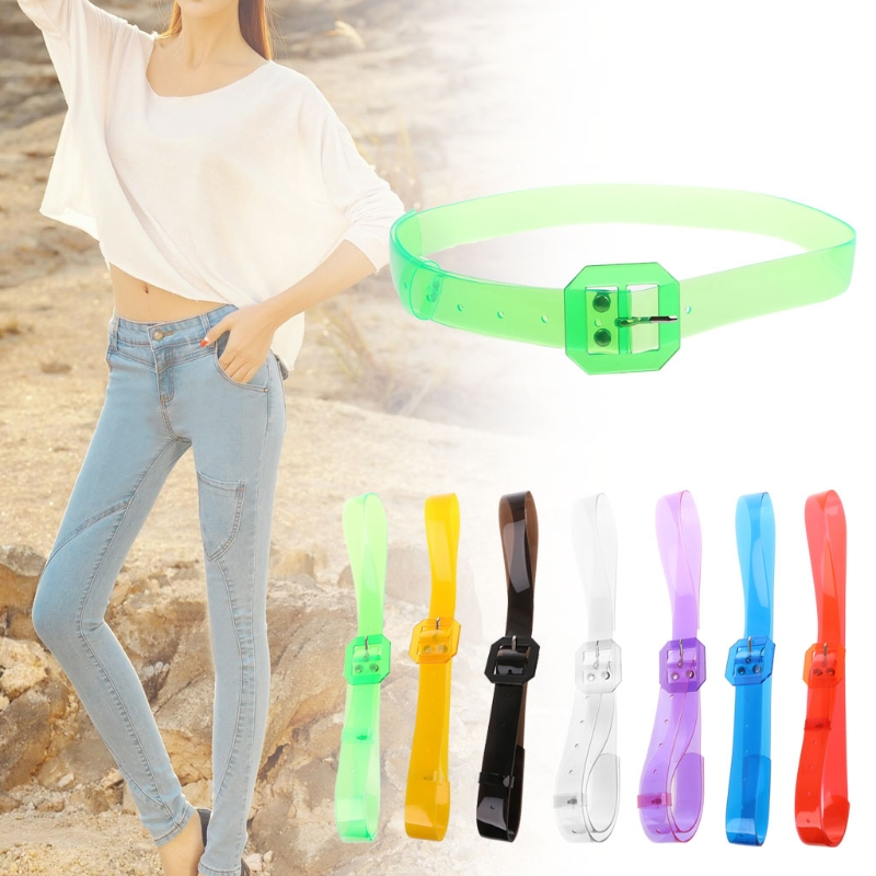 2018 Fashion New Waist   Belt   Plastic Women Transparent Resin Casual Lady Girls Waistband Colorful High Quality 7 Colors Hot