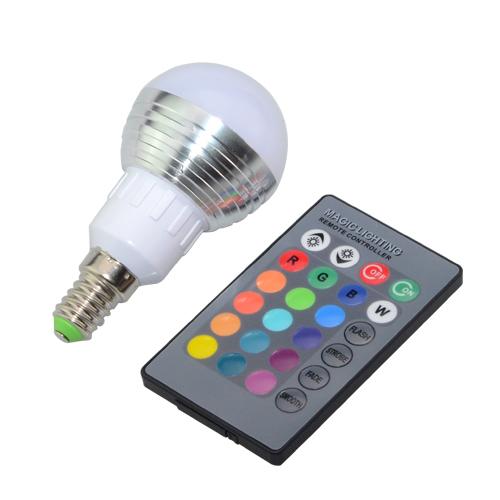 E27 E14 LED 16 Color Changing RGB Magic Light Bulb Lamp 85-265V 110V 120V 220V RGB Led Light Spotlight + IR Remote Control