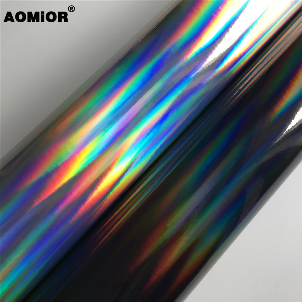 Rainbow Chrome Vinyl Wrap Film Foil For Car Wrapping Vinyl Sticker Auto Vehicle Car Decal(China)