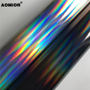 Rainbow Chrome Vinyl Wrap Film Foil For Car Wrapping Vinyl Sticker Auto Vehicle Car Decal image