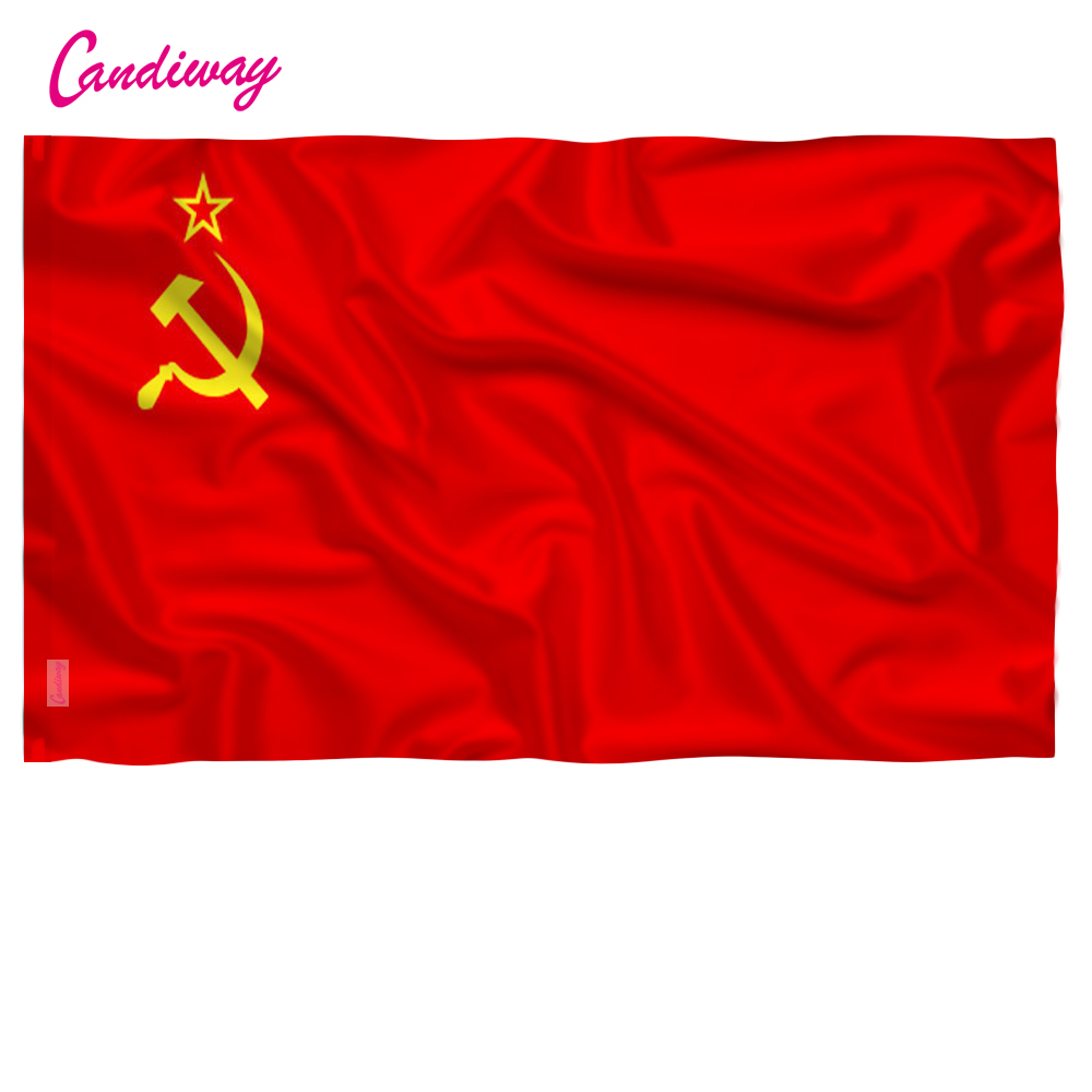 Red CCCP Flag 90x150mm Union Of Soviet Socialist Republics 3x5' Feet Super-Poly Indoor/Outdoor USSR FLAG Country Russian Banner