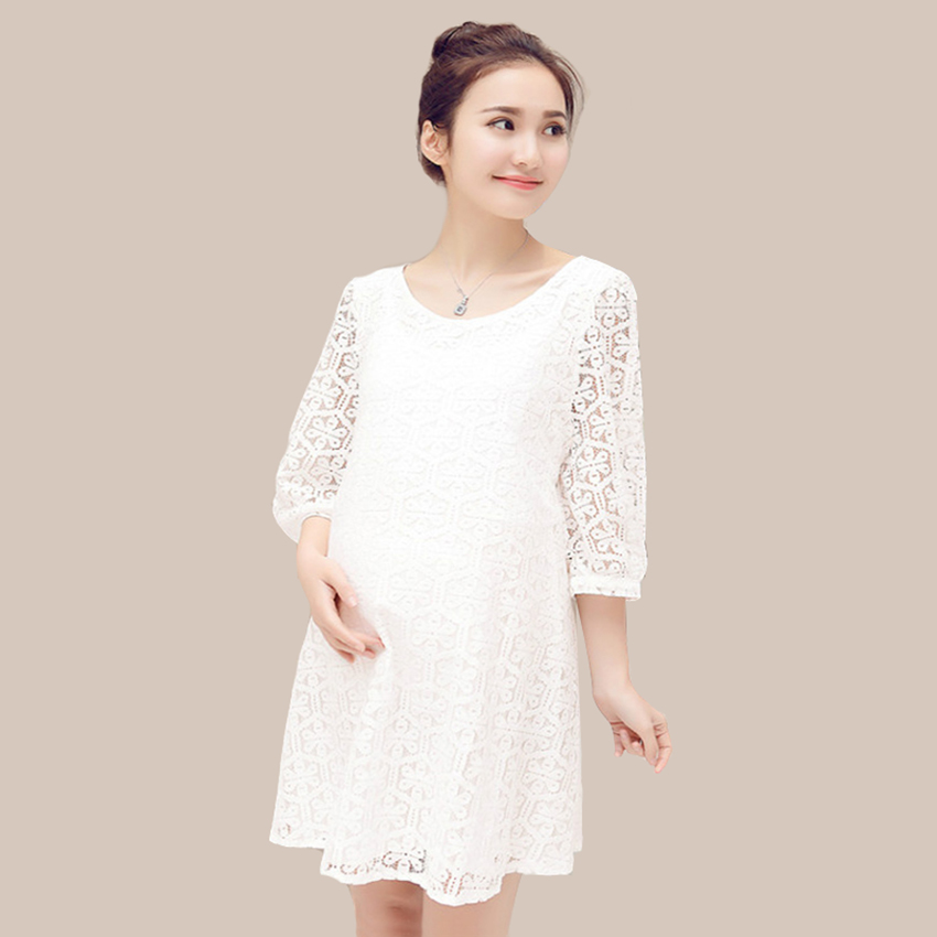 33cdd47d02859 M XL Beige Color Pregnant Clothes Maternity Clothing Women Maternity Dress  Casual Lace Clothes For Pregnant Women Sweet Lace Ds-in Dresses from Mother  & ...