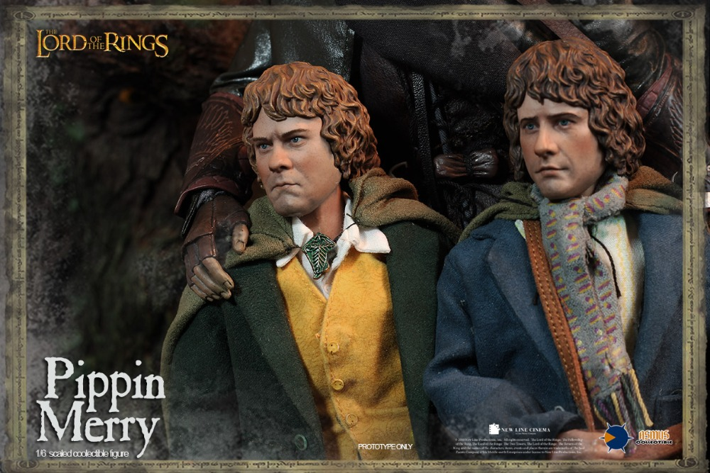 """ФОТО 1/6 scale figure doll The Lord of the Rings Dwarf PIPPIN and MERRY 12"""" action figures doll.Collectible figure model toy"""