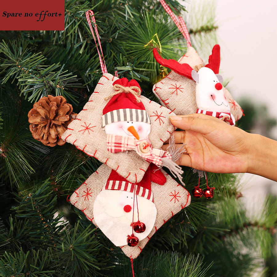 Cheap outdoor christmas decorations - Cheap Artificial Chirstmas Tree Ornaments Small 2pc Cloth Toys Personalize Christmas Gift Christmas Decorations For Home