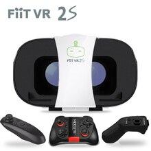 Оригинальный fiitvr 2 S 3D VR очки машина Виртуальная реальность носимых vr-шлем Беспроводная стерео системы робот буря системы 3D коробка