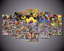 Dragon Ball z – 5 Panels – Canva Wall Art (Unframed)