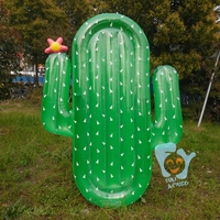 Swimming Pool Floats for Adult Giant Inflatable Cactus Pool Float Air Mattress Water Toys Beach Fun Raft Flotador Piscina