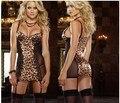 Conjunto de Lingerie Sexy Vestido de Leopardo europeu Desempenhar um papel Princesa Rainha Uniformes das Mulheres Sexy Leopard Pijamas Set Nightgowns