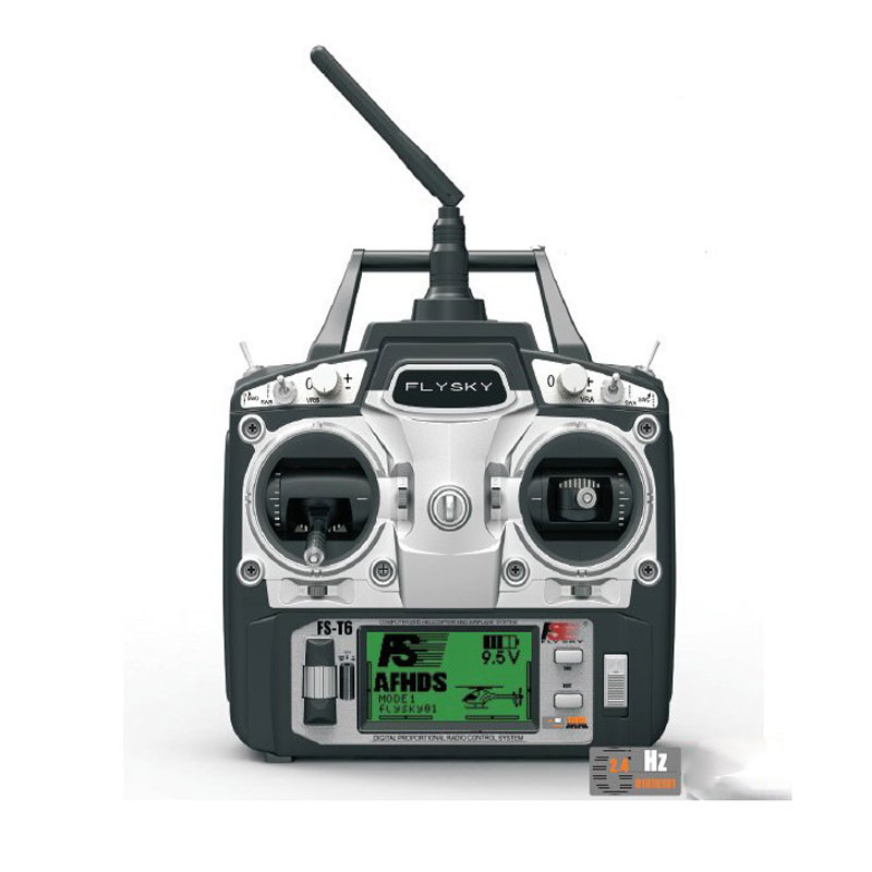 Free shipping Flysky FS T6 FS T6 6ch 2 4g with LCD Screen Transmitter FS R6B