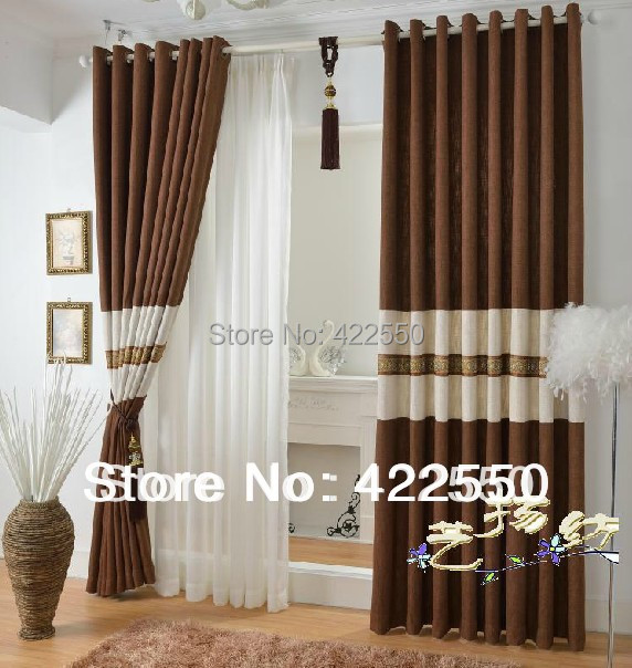 Captivating Aliexpress Buy Ready Made Curtains Thick Asian Coffee Color. Brief Navy  Blue Blackout Living Room ... Part 32