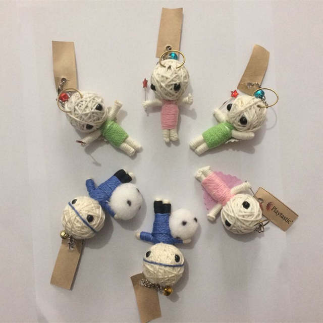 ZILIN Wholesale Cute Voodoo Dolls Prediction Voodoo Dolls Magic Tricks  Keychains Decoration Accessories 6 pieces/pack