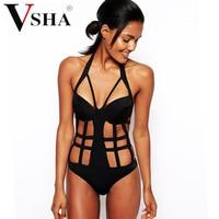 Vsha חלול שחור נשים מודל סקסי גודל Sml חליפת ביקיני חתיכה אחת בגד ים ביקיני מסיבת בריכה שחייה ללבוש
