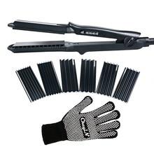 4in1 Tourmaline Ceramic Flat Iron Professional Electric Hair Straightener Interchangeable Plate Hair Crimper Waver Crimping Iron