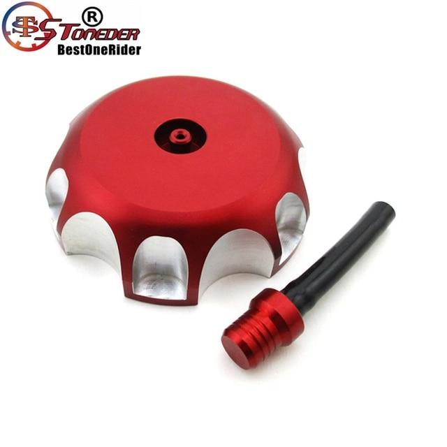 STONEDER CNC Aluminium Red Gas Fuel Tank Cap Cover For Honda CRF 250R 250X TRX 450R CRF450R CRF450X 2004 2005 2006 2008 - 2010