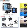 Soocoo c30r 4 k wifi ação esporte câmera de vídeo de controle remoto à prova d' água + bateria extra + carregador + selfie vara + carregador de carro + headstrap