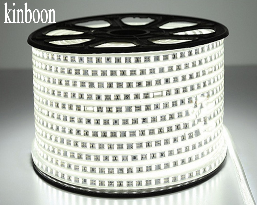 LED Strip Light AC 220V SMD 5050 White Flexible LED Tape 60LEDs/m For Living Room 1M 2M 5M 10M 20M With EU Power Plug