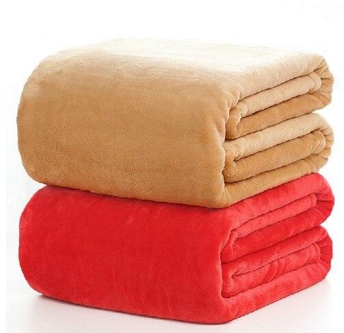 CAMMITEVER 5 Größen Flanell Einfarbig Decke Sofa Bettwäsche Wirft Weiche Plaids Winter Flache Bettlaken Hause