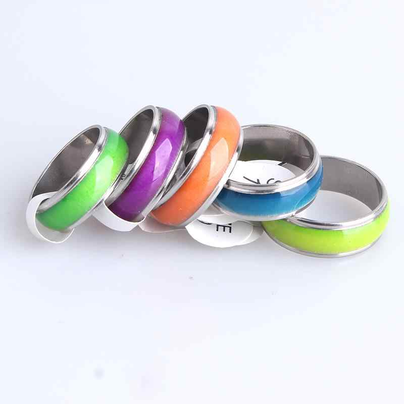 6mm 6mm colorful drop oil random color  316L Stainless Steel wedding rings for women men wholesale