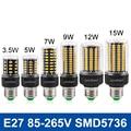 Lâmpada LED E27 LED de Milho Bulb SMD5736 AC 110 V 220 V LEVOU Luz 3.5 W 5 W 7 W 9 W 12 W 15 W LED Bombillas