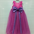 Brand New Children Girl Sequined Big Bow Dress Girls Princess Long Party Evening Dresses Clothing Wholesale 5pcs/lot