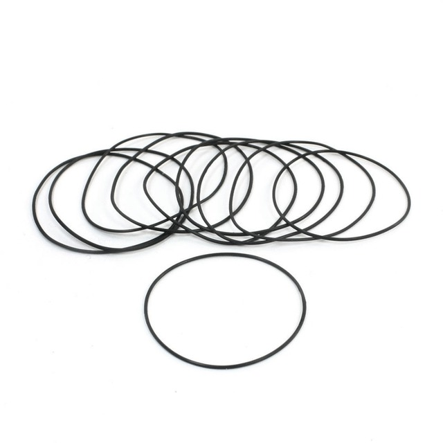 10pcs Black Rubber Oil Filter Seal O Rings Gaskets 50mm X 48mm X