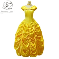 Movie Beauty And The Beast Fancy Dress Cosplay Costume Princess Belle Adult Women Female Princess Party
