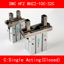 цена на HFZ MHZ2 10C 16C 20C 25C 32C Single Acting Normally Closed Mini Grippers Pneumatic Finger Cylinder SMC Type Parallel Style