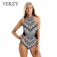 One Piece Swimsuit Women S Sexy Swimwear Print Monokini For Women 2017 Newest Spring Backless Beachwear