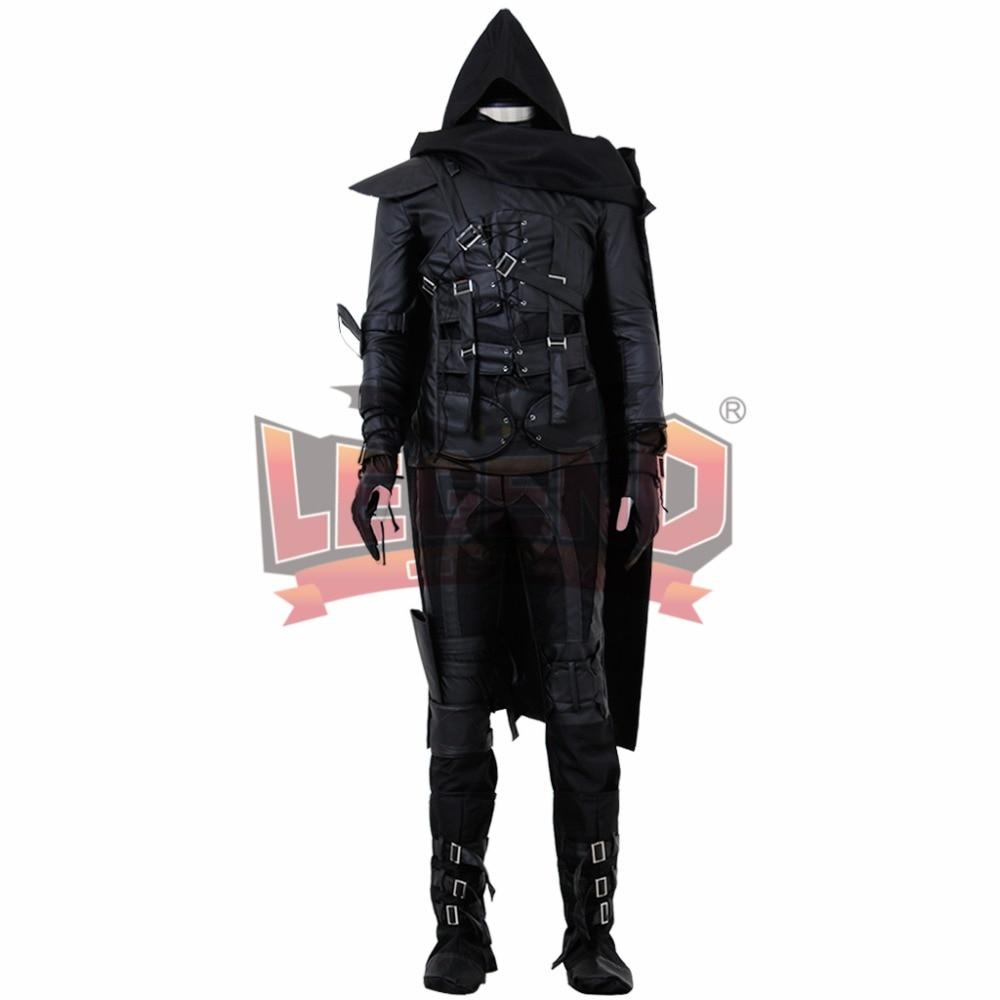 Thief 4 Garrett Cosplay Costume Adult Halloween men Costume Black outfit Custom Made