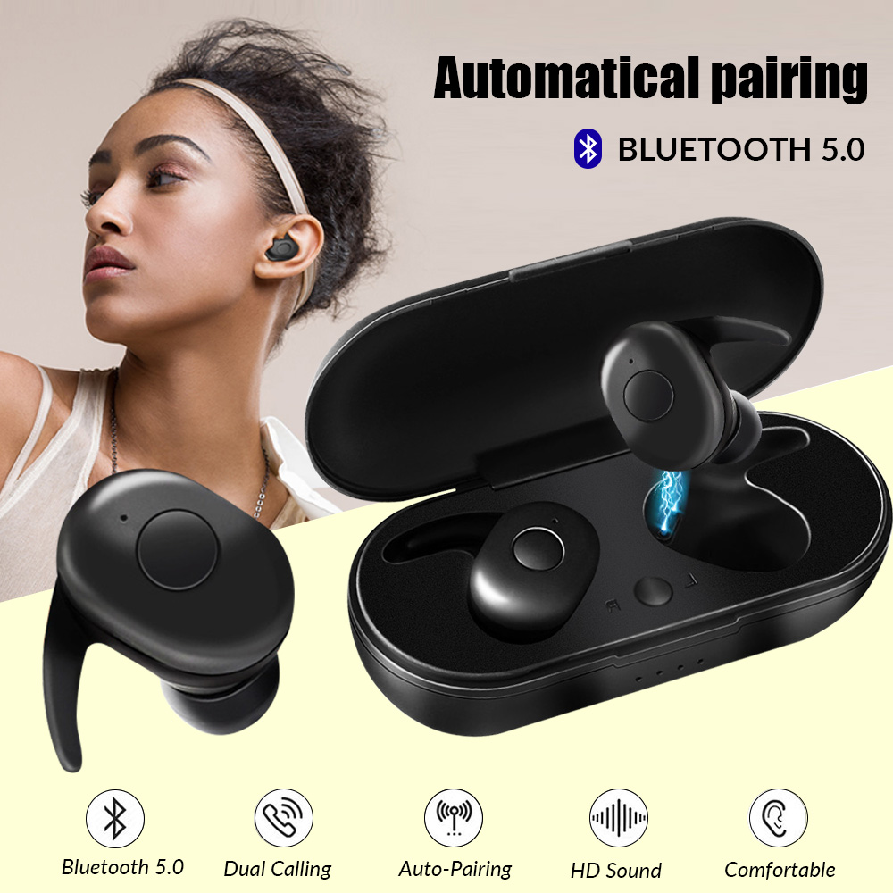 Bluetooth 5 0 Earphones TWS Wireless Headphones Gaming Earphone Handsfree Headphone Sports Earbuds Gamer Headset Phone with MIC in Bluetooth Earphones Headphones from Consumer Electronics