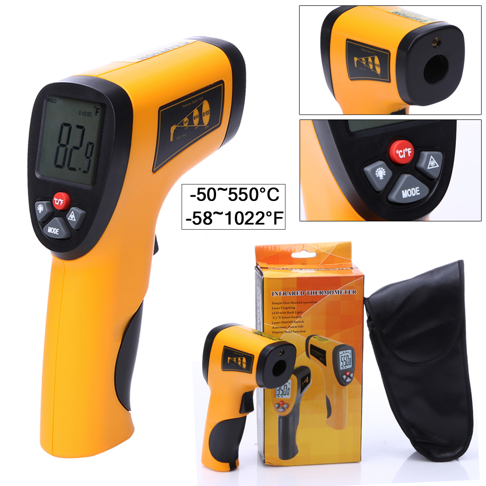 Non-Contact Laser LCD Digital IR Infrared Thermometer GM320 Temperature Meter Gun Point -50~380 Degree Non-Contact Thermometer portable non contact digital infrared thermometer laser pyrometer from 50 to 380 degree handheld ir temperature measurement gun