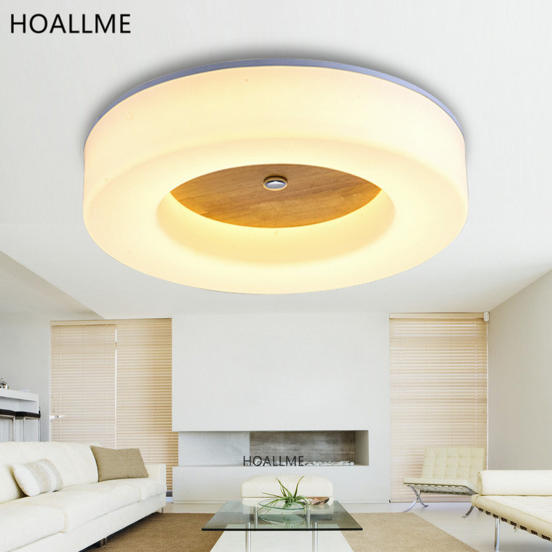 Modern round acrylic wooden led ceiling light indoor light for Kids ceiling lights for bedroom