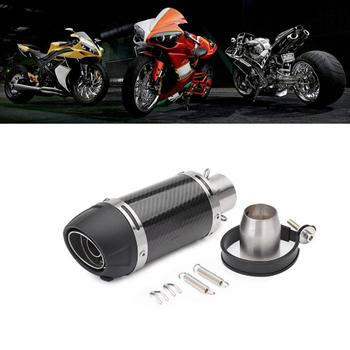 36-51mm Universal Carbon Fiber Motorcycle Exhaust Modified Muffler Pipe Scooter Pit Bike Dirt Motocross For Yamaha for kawasaki